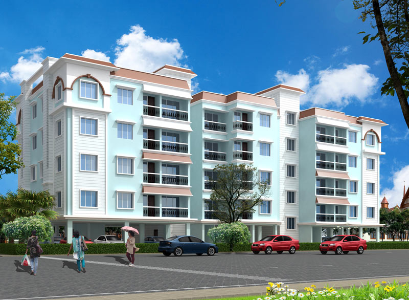 Play School Front Elevation : New residential apartments in bhiwadi rs lakhs