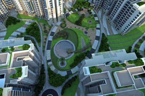 shri radha sky garden price list